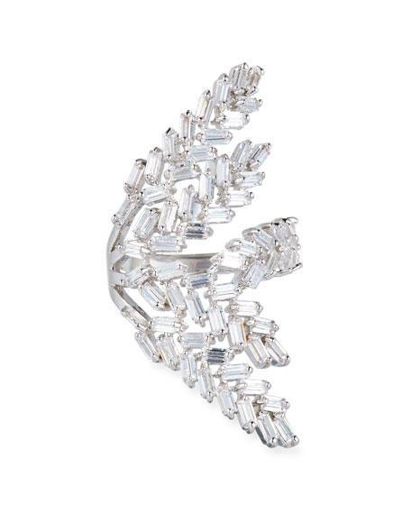 Fallon Monarch Deco Fern Crystal Ring