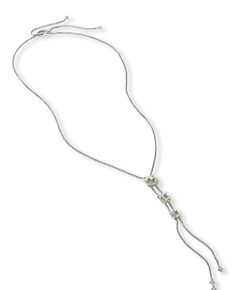 Châtelaine Faceted 18K Gold Lariat Necklace with Diamonds
