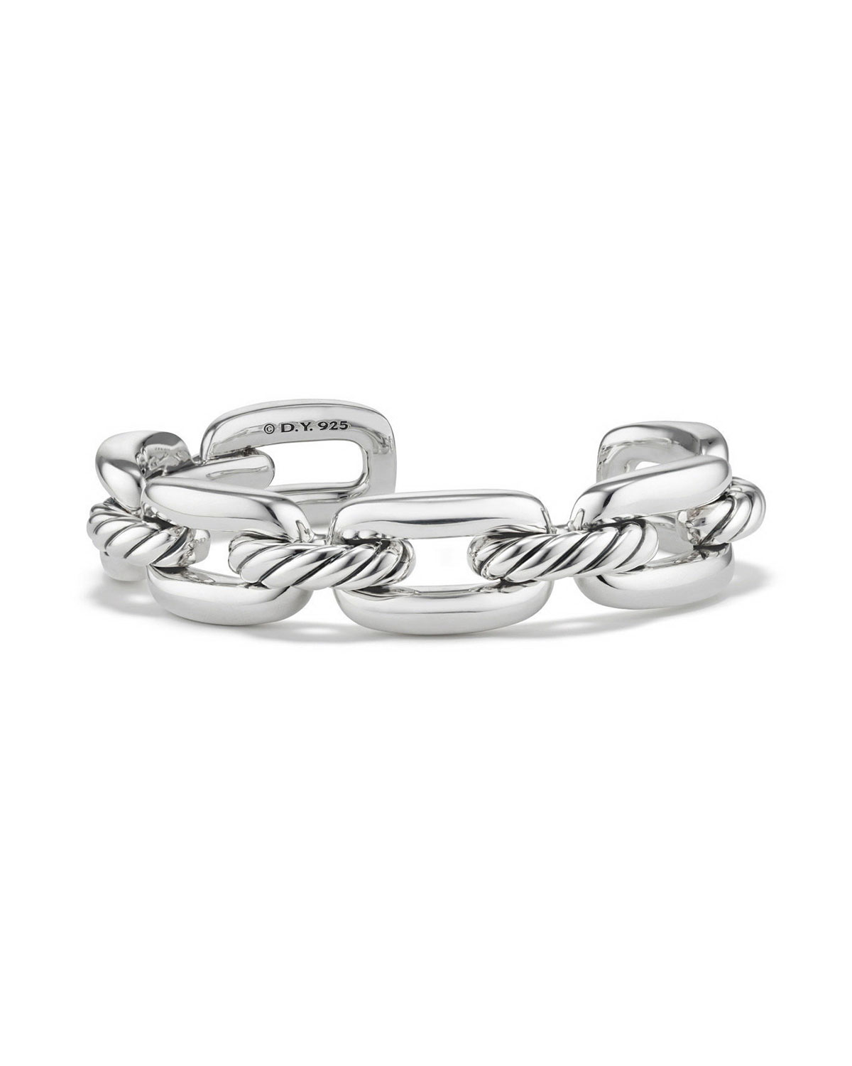 bd421281795c3 David Yurman Wellesley Sterling Silver Link Cuff Bracelet