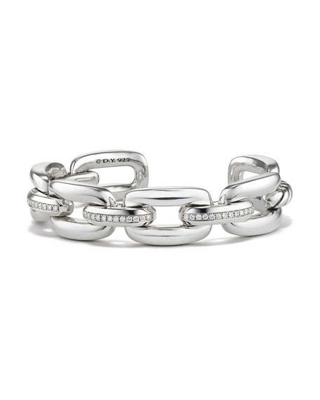 David Yurman Wellesley Sterling Silver Chain Bracelet with