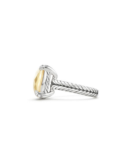 14mm Châtelaine 18K Gold Dome Ring with Diamonds