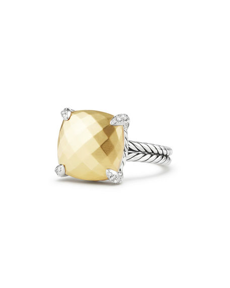 David Yurman 14mm Ch??telaine 18K Gold Dome Ring