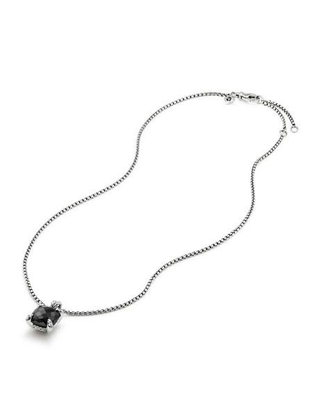 11mm Châtelaine Onyx Pendant Necklace with Diamonds