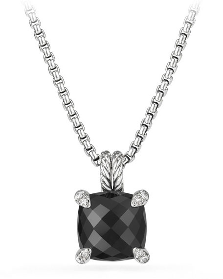 David Yurman 11mm Châtelaine Onyx Pendant Necklace with