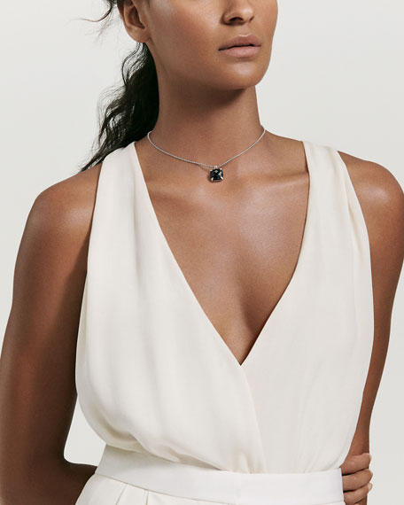 14mm Châtelaine Onyx Pendant Necklace with Diamonds