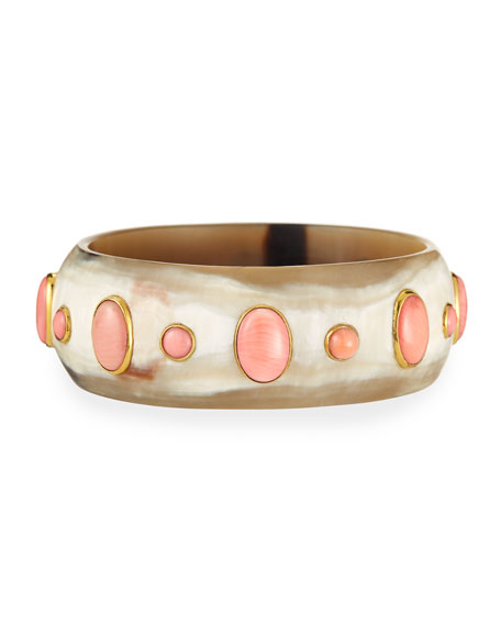 Ashley Pittman Winda Coral Cabochon Bangle