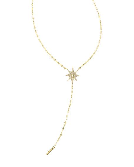 LANA Large Diamond Star Lariat Necklace