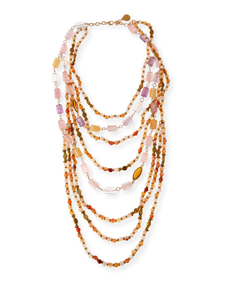 Devon Leigh Beaded Quartz, Amethyst & Citrine Multi-Strand