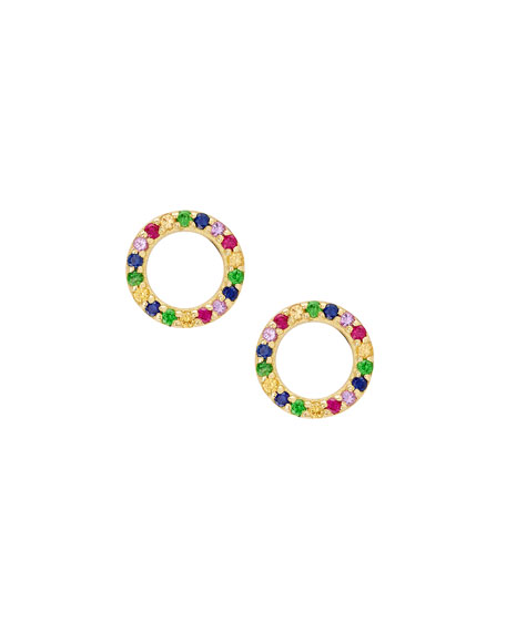 Lana Girl by Lana Jewelry Girls Rainbow Sapphire Huggie Hoop Earrings yYEyj5yVfT