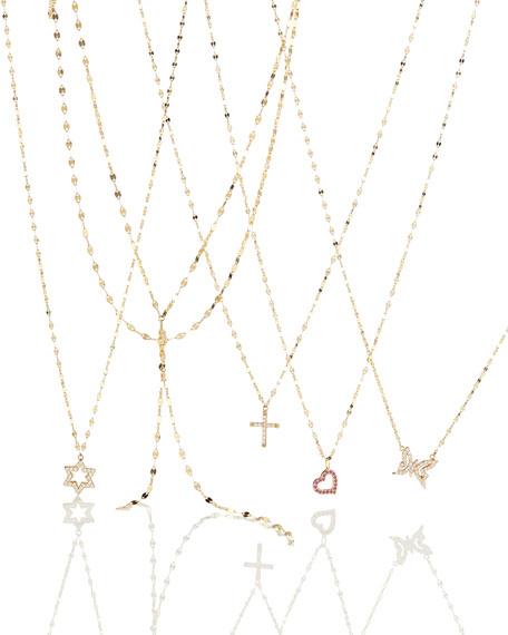 Girls' Diamond Butterfly Pendant Necklace