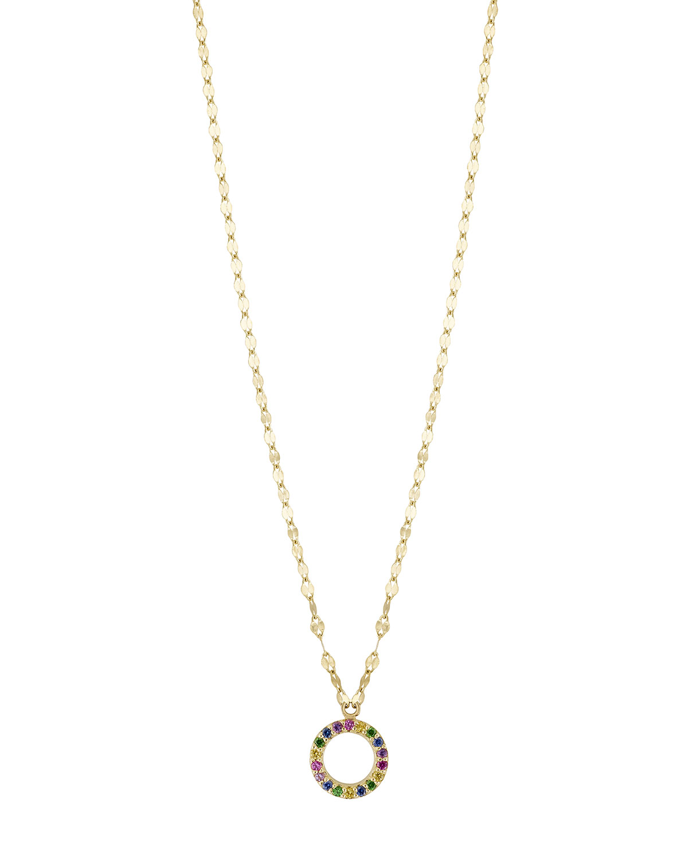 Lana girl by lana jewelry girls mini open circle rainbow sapphire girls mini open circle rainbow sapphire pendant necklace aloadofball Images