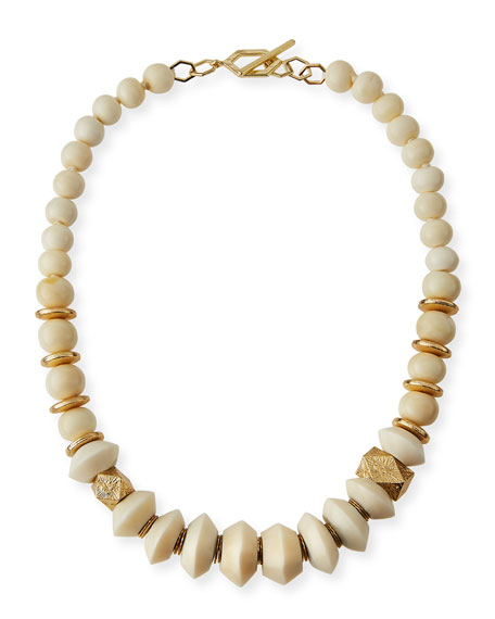 Akola Short Graduated Bone Necklace