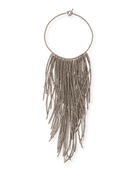Brunello Cucinelli Monili Fringe Waterfall Necklace