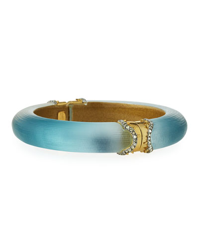 Frosted Blue Ombre Bangle Bracelet