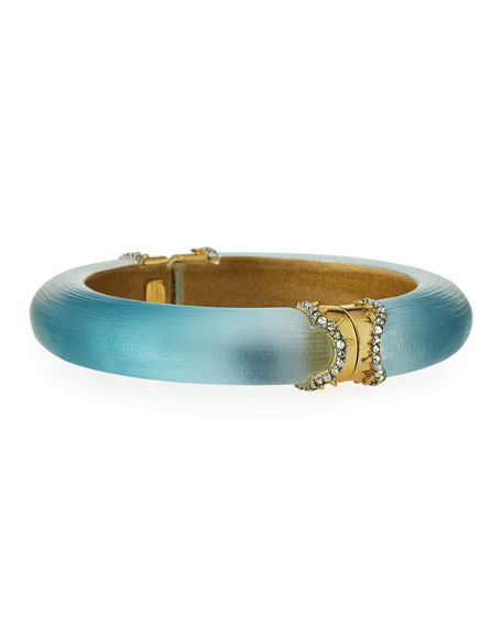 Alexis Bittar Frosted Blue Ombre Bangle Bracelet