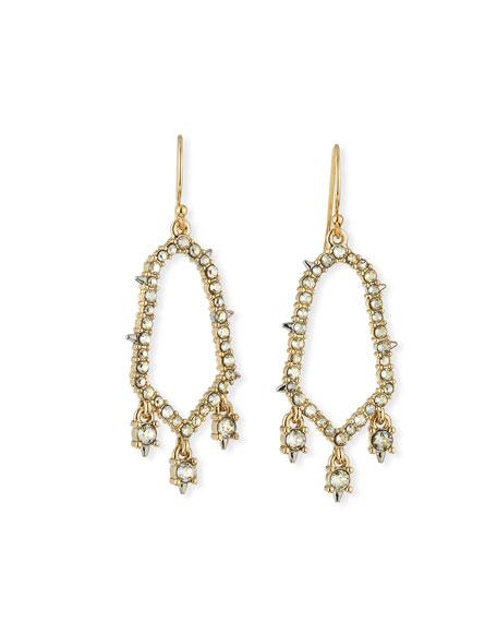 Alexis Bittar Crystal-Encrusted Open Drop Earrings