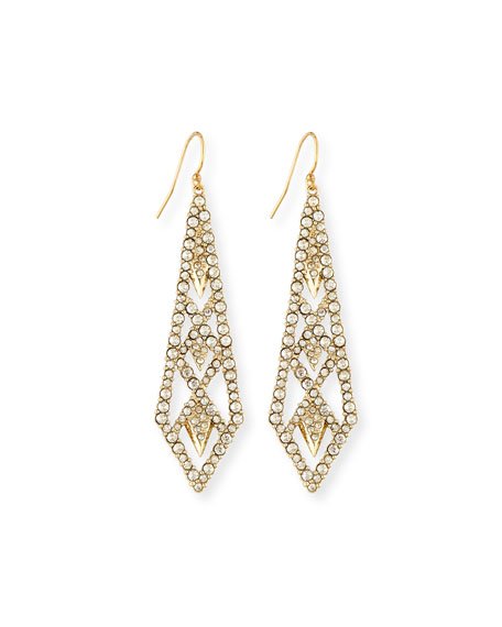 Alexis Bittar Crystal-Encrusted Drop Earrings, Golden