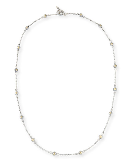 Konstantino Classic Dot Chain Necklace, 28