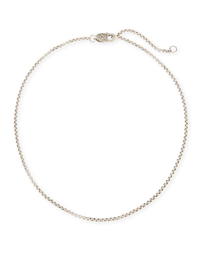 Sterling Silver Petite Rolo Chain Necklace