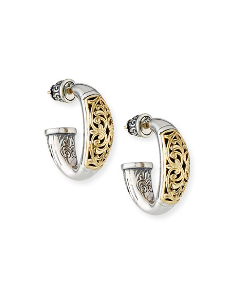 Konstantino Classic Filigree Hoop Earrings