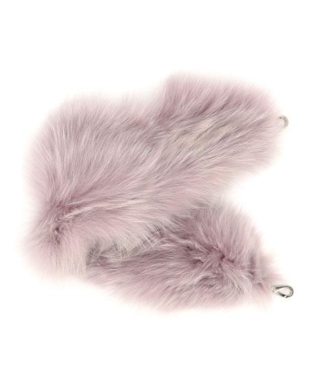 Bicolor Fox Fur Strap for Handbag