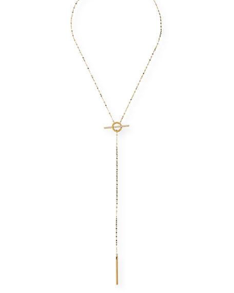 Diamond Lana Lock Lariat Necklace