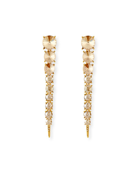 Oscar de la Renta Crystal Tendril Earrings