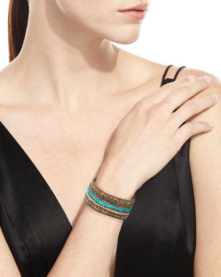 Beaded Multi-Row Cuff Bracelet