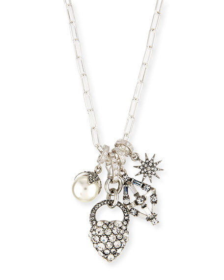 Lulu Frost Mixed Crystal Charm Necklace 0dpTVkwIW