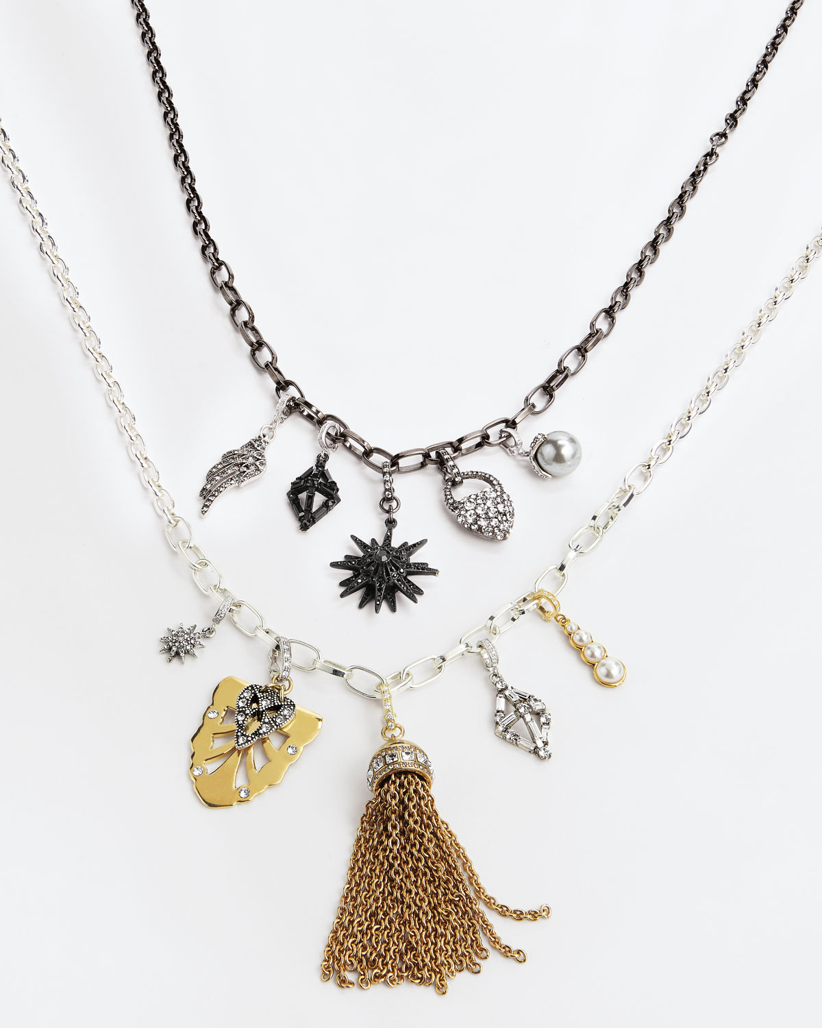 Lulu Frost Mixed Golden & Silvertone Charm Necklace mQ1N76