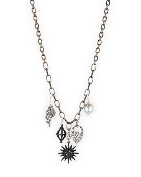 Lulu Frost Hematite Charm Necklace