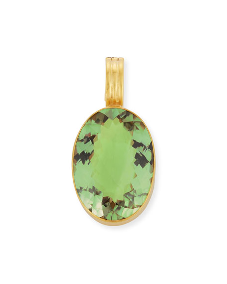 Dina Mackney Green Amethyst Oval Enhancer