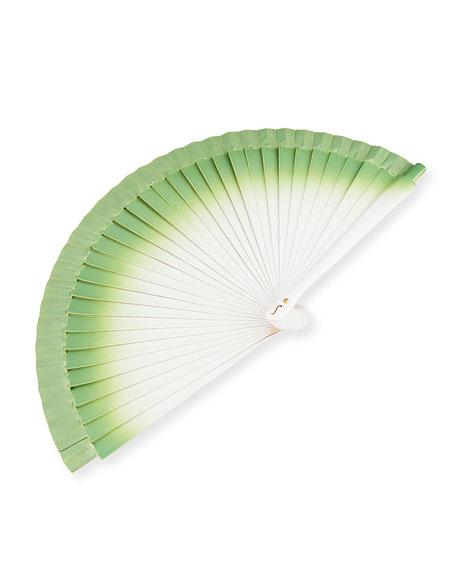 Small Gradient Hand Fan, Green