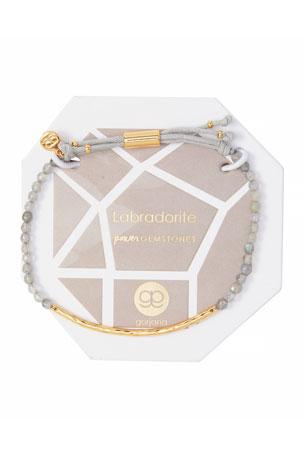 gorjana Power Gemstone Labradorite Bracelet for Balance, Gold