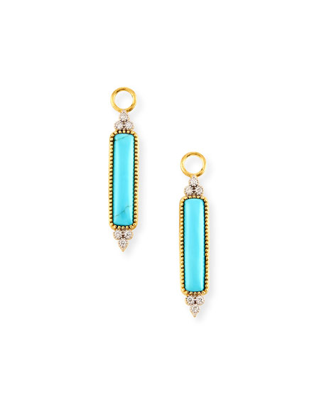 Jude Frances Moroccan Elongated Turquoise & Diamond Earring