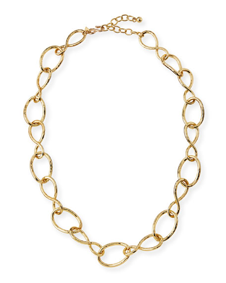 Kenneth Jay Lane Twisted Open Link Necklace, 30