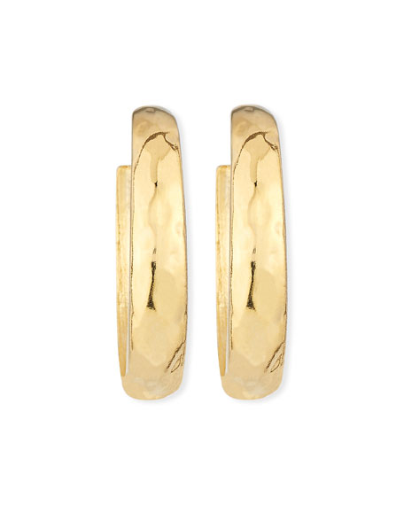 Kenneth Jay Lane Hammered Large Hoop Clip-On Earrings