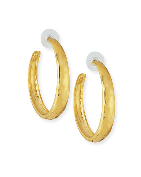 Kenneth Jay Lane Large Tapered Hoop Earrings