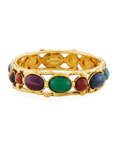 Cabochon Stud Bangle Bracelet