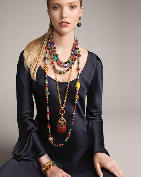 Three-Strand Mixed Bead Necklace