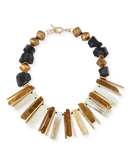 Akola Horn Bib Necklace