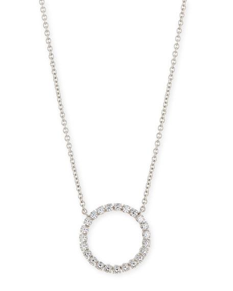 Medium CZ Circle Pendant Necklace