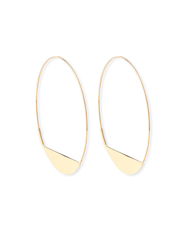 Lana Jewelry 14k Tricolor Bubble Hoop Earrings, 80mm