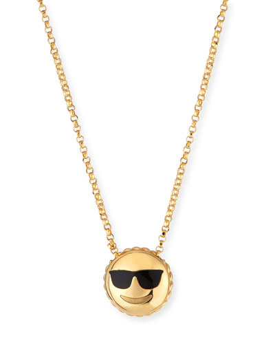 Cool Sunglasses Emoji Pendant Necklace