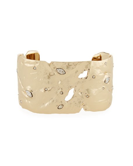 Alexis Bittar Textured Cuff with Crystals