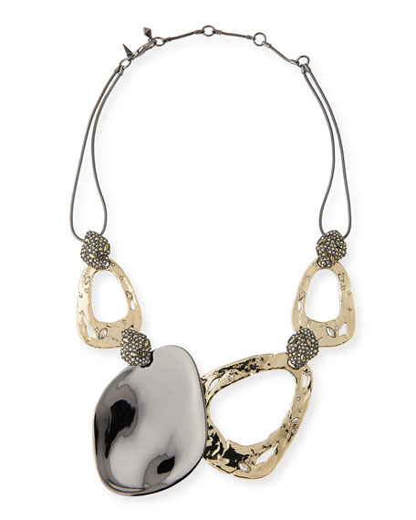 Alexis Bittar Link Rocky Pyrite Crystal Accent Ruthenium-Tone