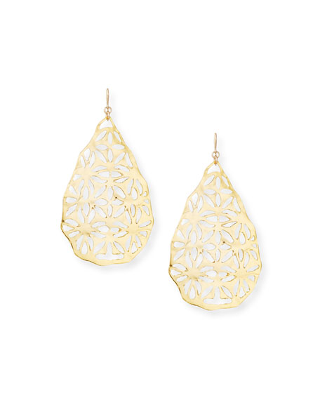 Devon Leigh Large Gold Filigree Earrings