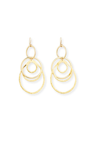 Devon Leigh Multi-Hoop Pendant Drop Earrings