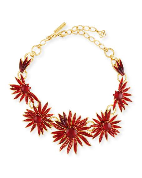 Oscar de la Renta Floral Resin Station Necklace