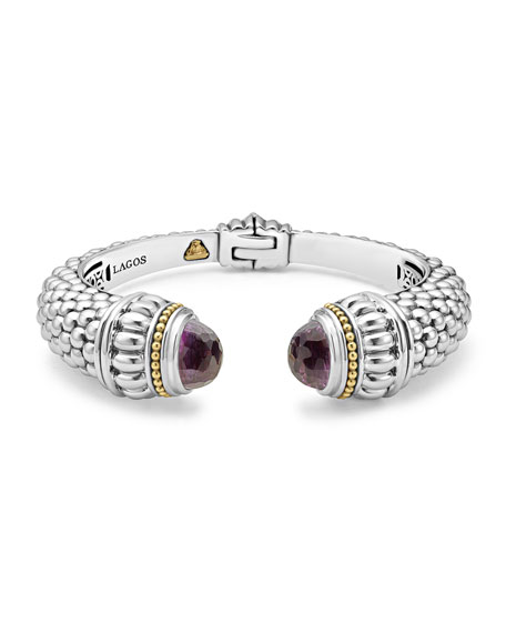 Caviar XL Hinge Cuff Bracelet with Hematine